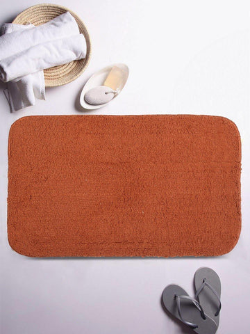 "Lushomes Golden Brown Thick and fluffy 1800 GSM bathmat with High Pile Microfiber (12""x 18"", Single Pc) - Lushomes"