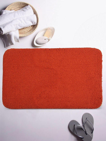 "Lushomes Tan Thick and fluffy 1800 GSM bathmat with High Pile Microfiber (12""x 18"", Single Pc) - Lushomes"