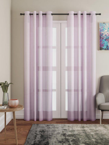 "Lushomes Pink Design 1 Melody Sheer Door Curtains 4.5 Ft x 7.5 ft. (54"" x 90"", Single pc) - Lushomes"