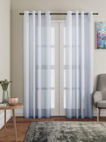 "Lushomes White Design 2 Melody Sheer Door Curtains 4.5 Ft x 7.5 ft. (54"" x 90"", Single pc) - Lushomes"