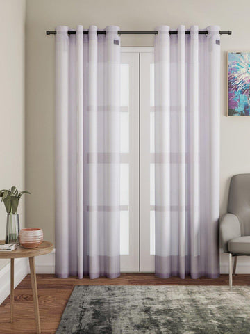 "Lushomes Pink Design 2 Melody Sheer Door Curtains 4.5 Ft x 7.5 ft. (54"" x 90"", Single pc) - Lushomes"