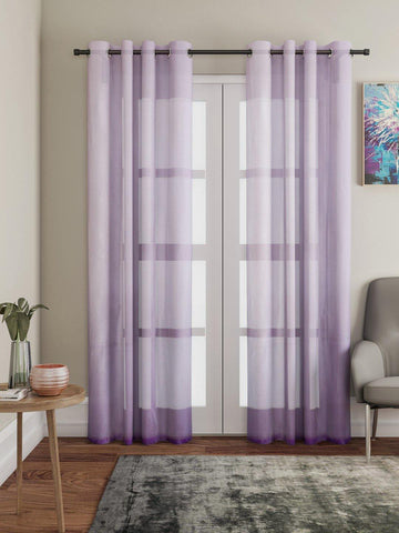"Lushomes Pink Design 4 Melody Sheer Door Curtains 4.5 Ft x 7.5 ft. (54"" x 90"", Single pc) - Lushomes"