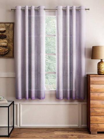 "Lushomes Pink Design 4 Melody Sheer Window Curtains 4.5 Ft x 5 ft. (54"" x 60"", Single pc) - Lushomes"