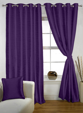 Lushomes Wine Twinkle Star Curtain with Blackout Lining for Doors - Lushomes