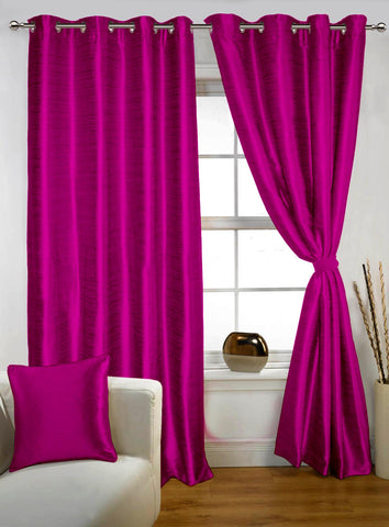 Lushomes Pink Twinkle Star Curtain with Blackout Lining for Long Door - Lushomes