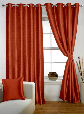 Lushomes Maroon Twinkle Star Curtain with Blackout Lining for Long Door - Lushomes