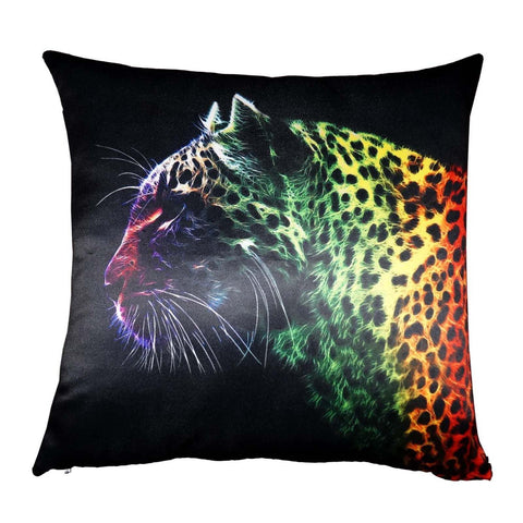 Lushomes Digital Printed Leopard Cushion Cover on Ultra Premium Whiteout Fabric - Lushomes