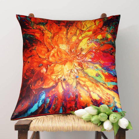 Lushomes Digital Printed Pallate Cushion Cover on Ultra Premium Whiteout Fabric - Lushomes