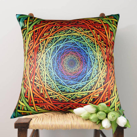 Lushomes Digital Printed Endless Cushion Cover on Ultra Premium Whiteout Fabric - Lushomes