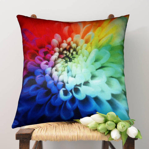 Lushomes Digital Printed Petals Cushion Cover on Ultra Premium Whiteout Fabric - Lushomes