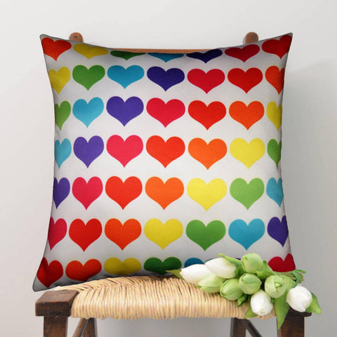 Lushomes Digital Printed Heart Cushion Cover on Ultra Premium Whiteout Fabric - Lushomes