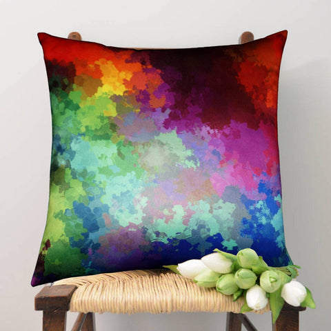 Lushomes Digital Printed Splash Cushion Cover on Ultra Premium Whiteout Fabric - Lushomes