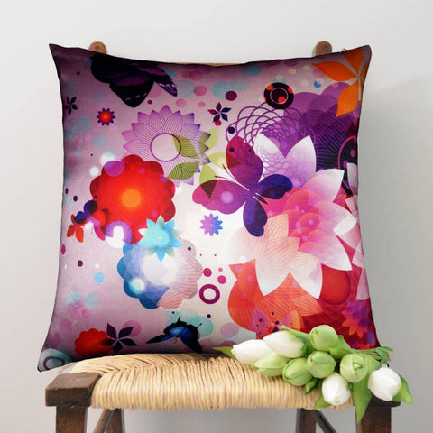 Lushomes Digital Printed Butterfly Cushion Cover on Ultra Premium Fabric - Lushomes