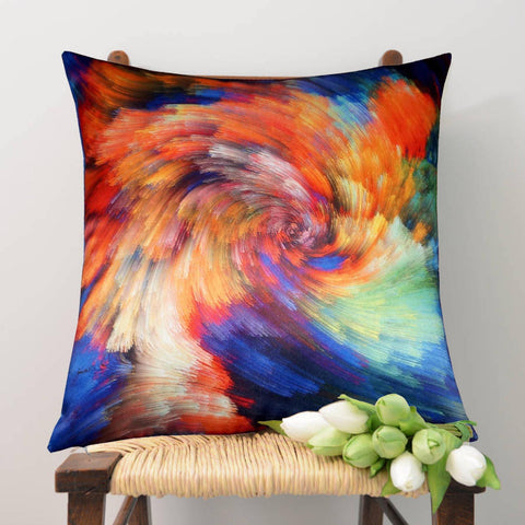 Lushomes Digital Printed Rainbow Cushion Cover on Ultra Premium Whiteout Fabric - Lushomes