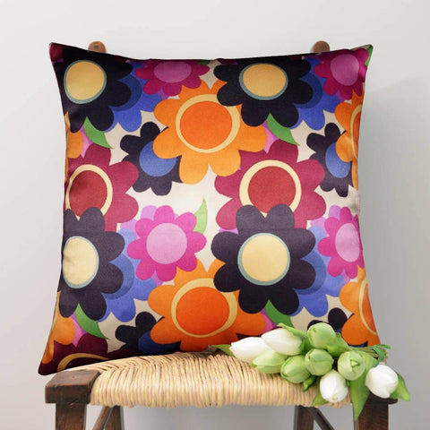 Lushomes Digital Printed Blossom Cushion Cover on Ultra Premium Whiteout Fabric - Lushomes