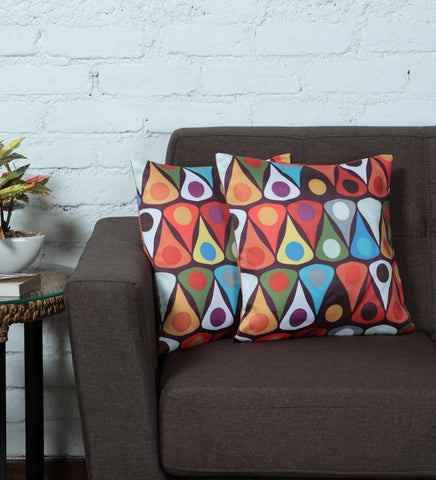 Lushomes Digital Abstract Printed Cushion Cover on Ultra Premium Whiteout Fabric - Lushomes