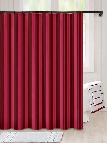 Lushomes Unidyed Maroon Polyester Shower Curtain with 12 Plastic Eyelets, Size: 72x80 inches (Single pc) - Lushomes