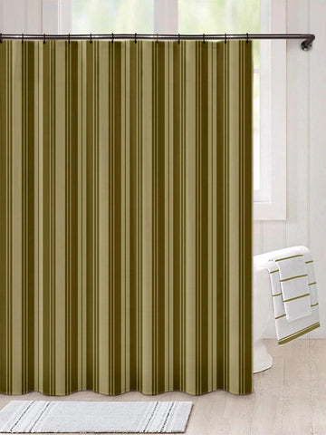 Lushomes Unidyed Olive Green Polyester Shower Curtain with 12 Plastic Eyelets, Size: 72x80 inches (Single pc) - Lushomes