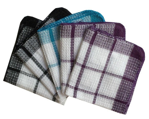 Lushomes Yarn Dyed Multi Purpose Cleaning Cloth (Pack of 5) - Lushomes