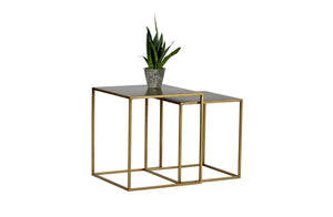 Coffee Table Metal Antique Brass