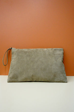 Leather Zip Bag A4