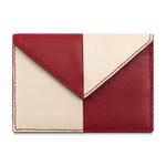 Color Blocked Card Case- Red