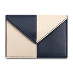 Color Blocked Card Case- Navy