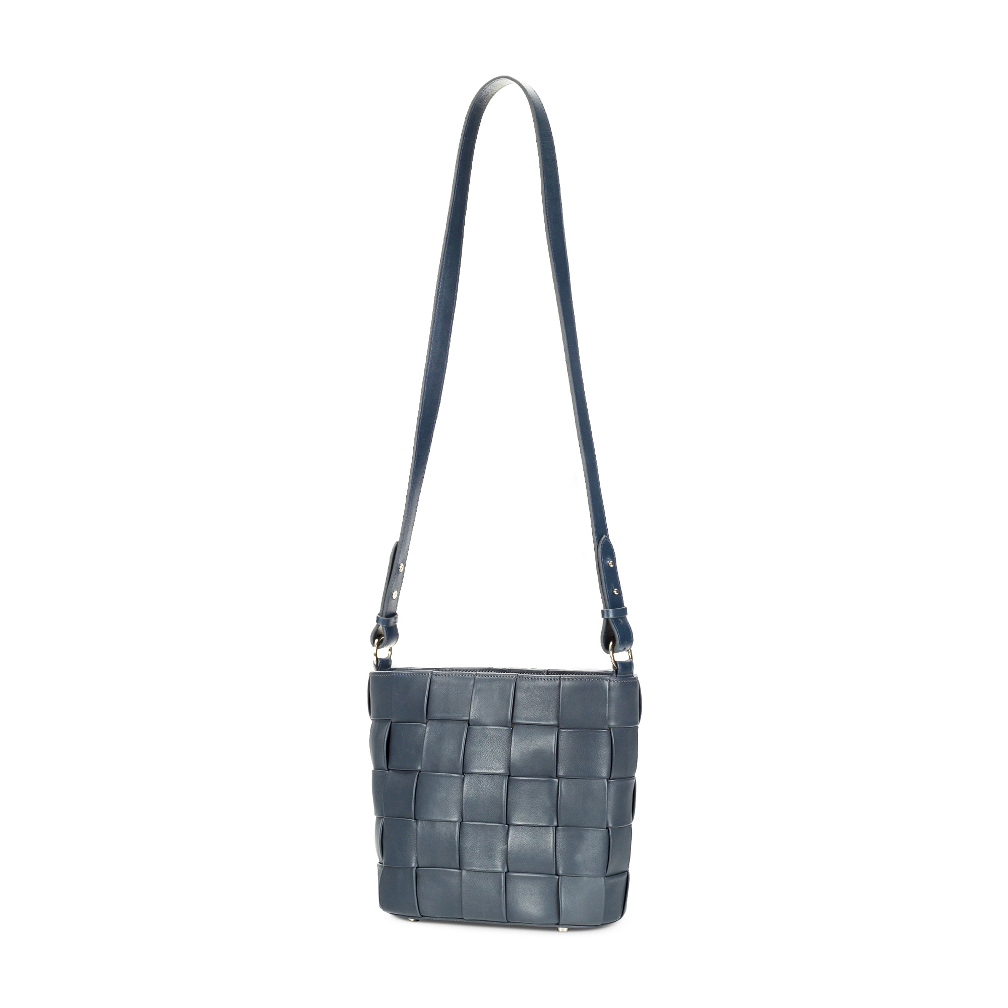 Woven Bucket Bag- Grey