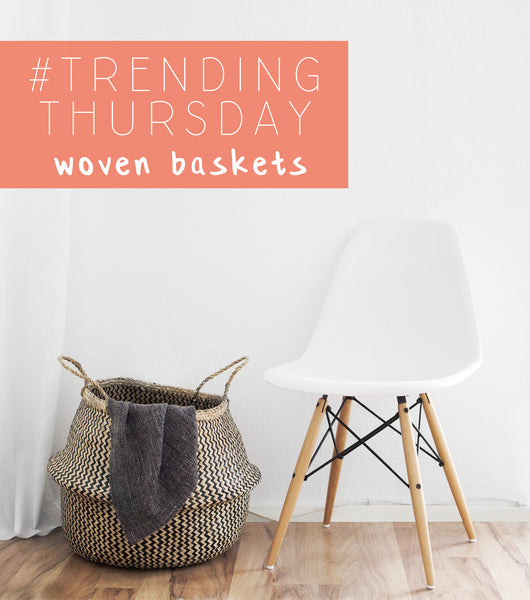 Trending Thursday woven baskets modern cute white chair