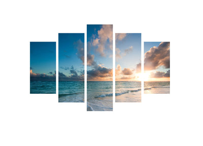 Ocean Calm 2 - 5 Panel Canvas Print - 5 Panel Canvas Wall Art