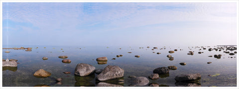 Rocky Shores - Photography Print on Canvas - Canvas Panoramic Wall Art