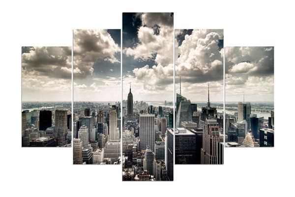 NYC New York Skyline #3 (HD Canvas 5 Panel)