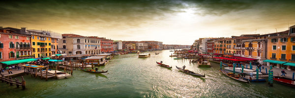 Venice - Photography Print on Canvas - Canvas Panoramic Wall Art