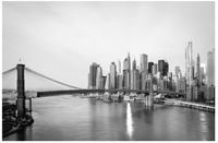 Bridge to Lower Manhattan <h2>Cityscape Panorama Large Canvas Photography Print</h2>