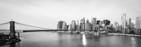 Bridge to Lower Manhattan - Photography Print on Canvas - Canvas Panoramic Wall Art