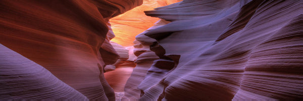 Antelope Cave #2 - Photography Print on Canvas - Canvas Panoramic Wall Art