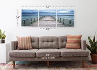 Baltic Sunset <h2>3 Panel Ocean Landscape Panoramic Photography Print</h2>