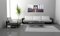 Brooklyn Bridge in 2 panels <h2>2 Panel Cityscape Panorama Vinyl Photography Print</h2>