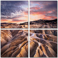 Desert Mountains <h2>4 Panel Nature Landscape Canvas Photography Print</h2>