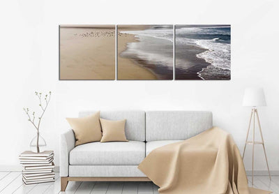 Ocean Foam with Birds
