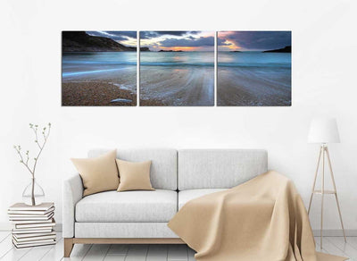 Receding Tide at Sunset