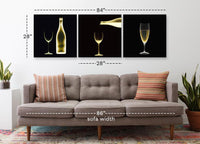 Bottle of White <h2>Frameless 3 Panel Vinyl Photography Print</h2>