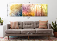 Fields of Color <h2>3 Panel Nature Landscape Vinyl Photography Print</h2>