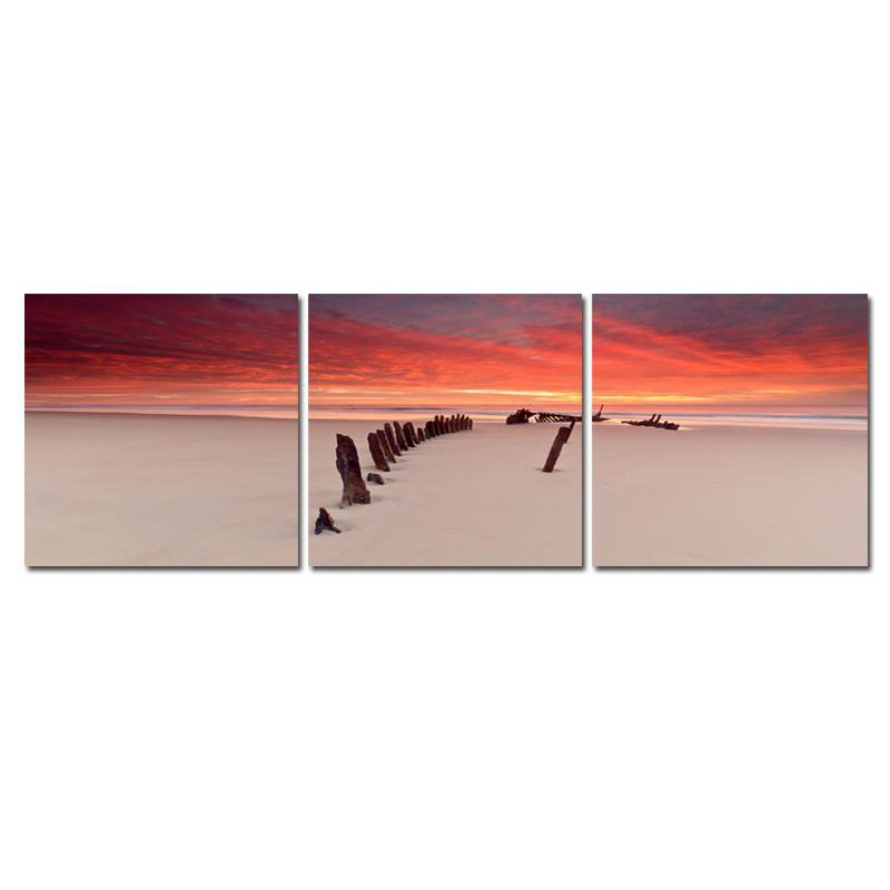 Path through the Beach - Photography Triptych Print - 3 Panel Landscape Photography