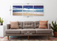 Blue Skies Ahead <h2>3 Panel Ocean Panorama Canvas Photography Print</h2>