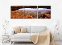 Canyonlands <h2>3 Panel Nature Landscape Vinyl Photography Print</h2>