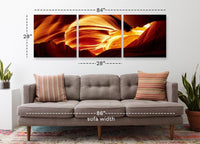 Antelope Cave in 3 Panels <h2>3 Panel Nature Landscape Vinyl Photography Print</h2>