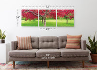 Cherry Blossoms <h2>3 Panel Nature Landscape Vinyl Photography Print</h2>