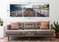 Brisbane Pier <h2>3 Panel Pier Perspective Panorama Vinyl Photography Print</h2>