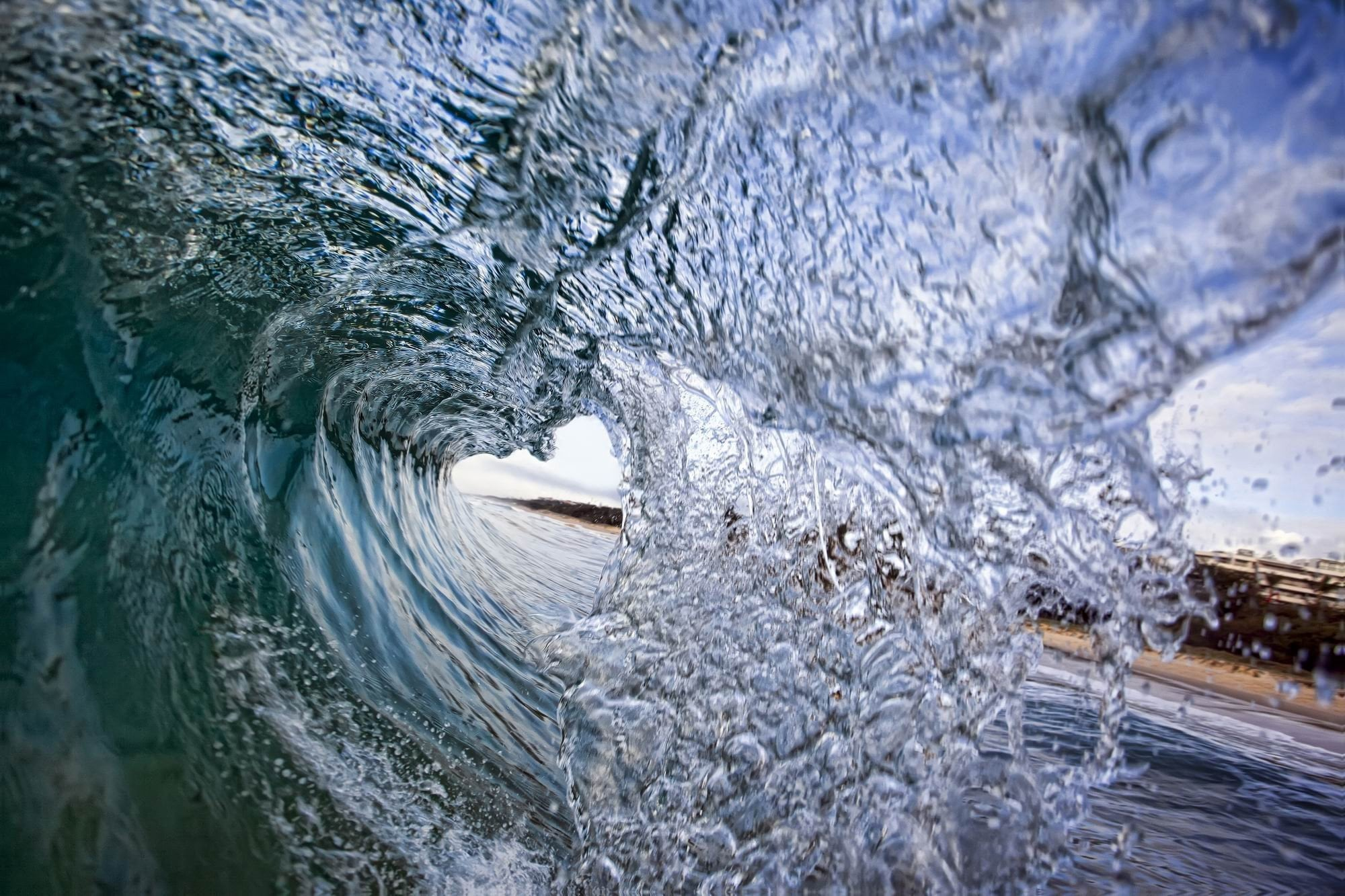 Crushing Wave - Photography Print on Canvas - Canvas Wall Art